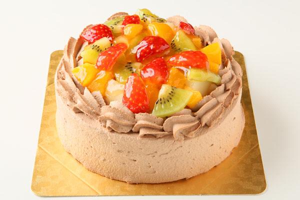 生チョコフルーツデコレーション4号【誕生日 デコ ケーキ バースデーケーキ バースデー】の画像1枚目