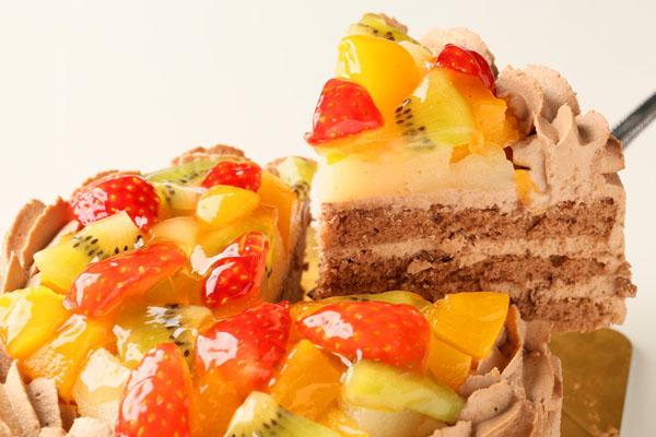 生チョコフルーツデコレーション4号【誕生日 デコ ケーキ バースデーケーキ バースデー】の画像3枚目