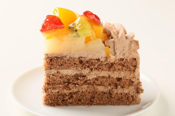 生チョコフルーツデコレーション4号【誕生日 デコ ケーキ バースデーケーキ バースデー】の画像4枚目