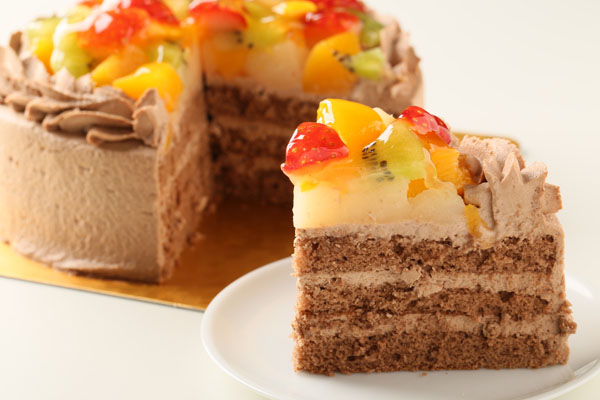 生チョコフルーツデコレーション4号【誕生日 デコ ケーキ バースデーケーキ バースデー】の画像5枚目