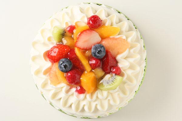 生クリームフルーツ飾りデコレーション6号【誕生日 バースデーケーキ】の画像2枚目