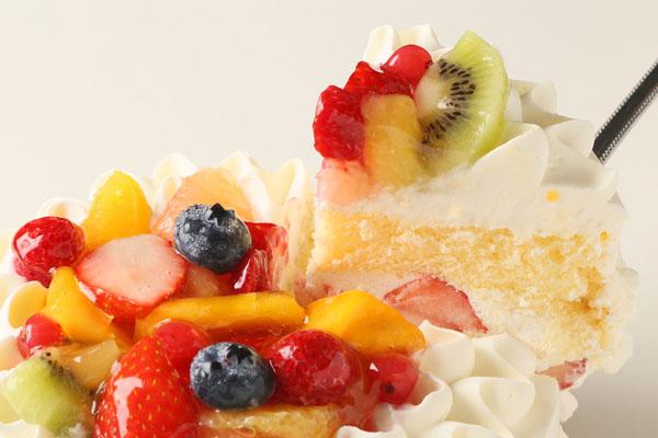 生クリームフルーツ飾りデコレーション6号【誕生日 バースデーケーキ】の画像3枚目