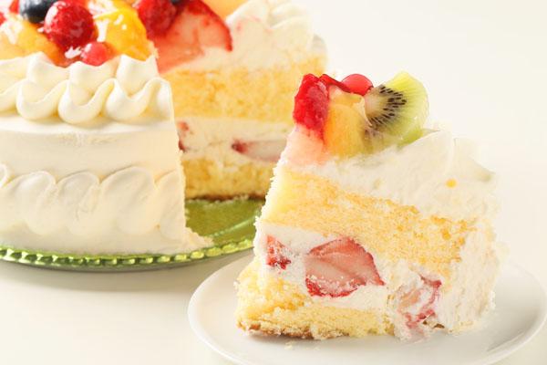 生クリームフルーツ飾りデコレーション6号【誕生日 バースデーケーキ】の画像5枚目