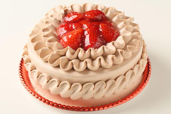 チョコ生クリームデコレーションケーキ6号の画像1枚目