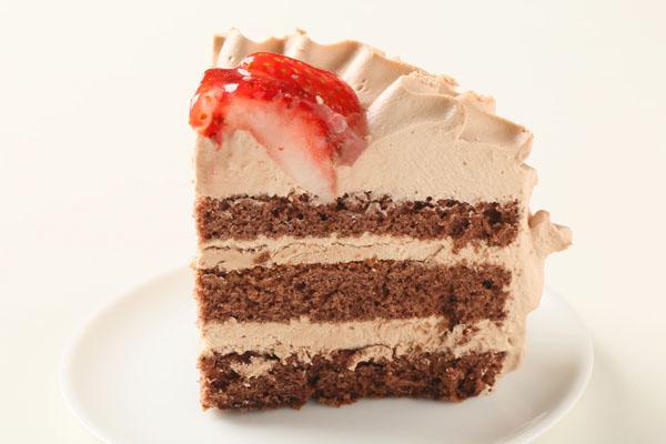 チョコ生クリームデコレーションケーキ6号の画像4枚目
