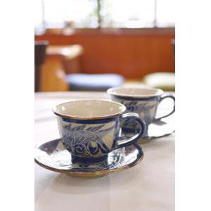 送料無料 沖縄陶器 コーヒーカップ&ソーサー::2774【バッグ・小物・ブランド雑貨】記念日向けギフトの通販サイト「バースデープレス」