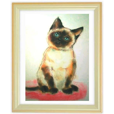 ペットの肖像画 2匹(パステル画・A4サイズ額付)::2879【バッグ・小物・ブランド雑貨】記念日向けギフトの通販サイト「バースデープレス」