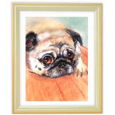 ペットの肖像画 3匹(パステル画・A4サイズ額付)::2879【バッグ・小物・ブランド雑貨】記念日向けギフトの通販サイト「バースデープレス」