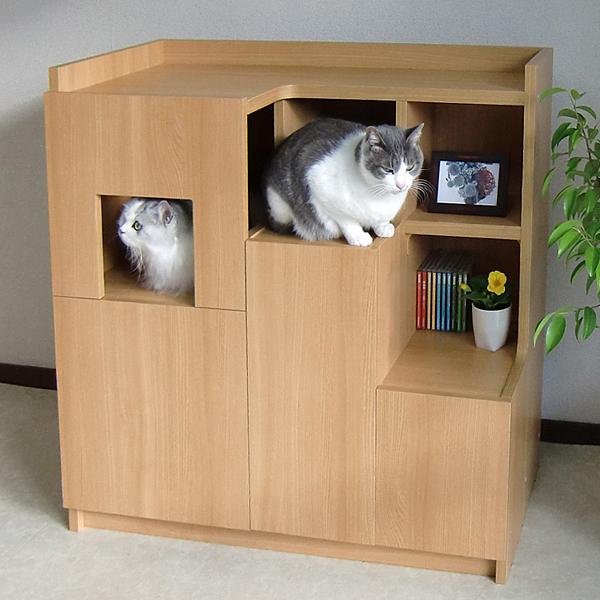 猫さんと暮らす家具シリーズ キャットステアハウス 階の家(きざはしのいえ) ::2913【バッグ・小物・ブランド雑貨】記念日向けギフトの通販サイト「バースデープレス」
