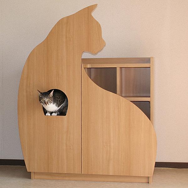 猫さんと暮らす家具シリーズ キャットステアハウス 階の家(きざはしのいえ)猫さん型扉 ::2913【バッグ・小物・ブランド雑貨】記念日向けギフトの通販サイト「バースデープレス」