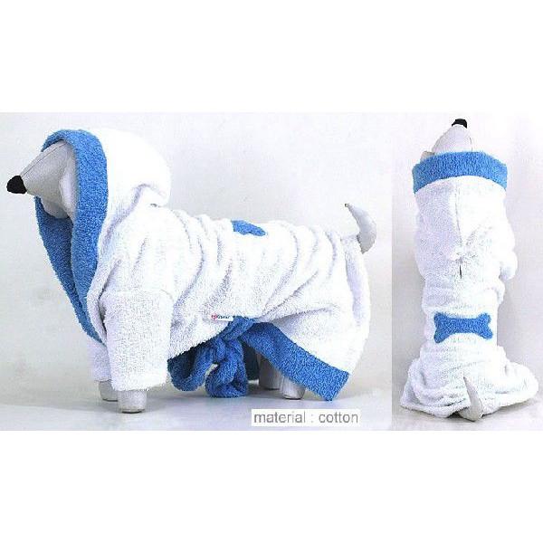 小型犬 犬の服 タオル ボーン柄バスローブ シャンプー お風呂上がりに::2942【バッグ・小物・ブランド雑貨】記念日向けギフトの通販サイト「バースデープレス」