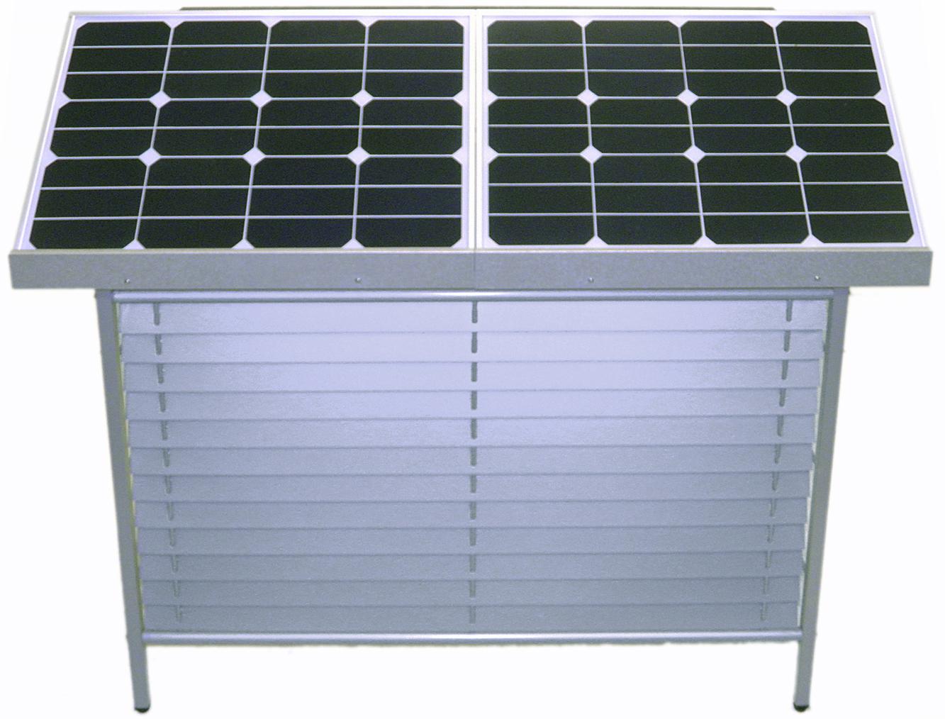 【停電対策】【室外機カバー型】【非常用電源】ソーラー蓄電システム WinSideSolar ES-S500 設置工事付パック::2982【バッグ・小物・ブランド雑貨】記念日向けギフトの通販サイト「バースデープレス」