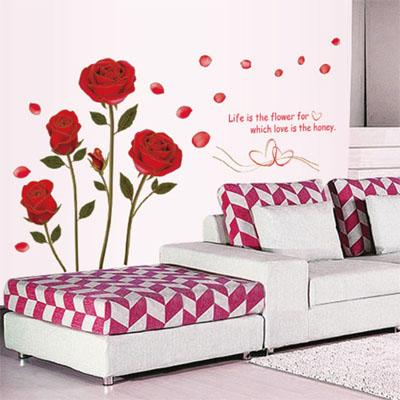 ウォールステッカー/薔薇の花・バラ☆フラワー☆::3007【バッグ・小物・ブランド雑貨】記念日向けギフトの通販サイト「バースデープレス」