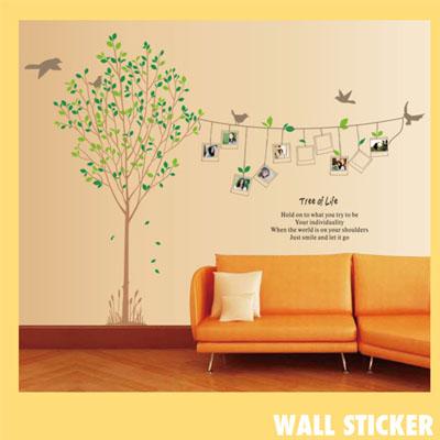ウォールステッカー/木と鳥☆フォトフレーム☆::3007【バッグ・小物・ブランド雑貨】記念日向けギフトの通販サイト「バースデープレス」