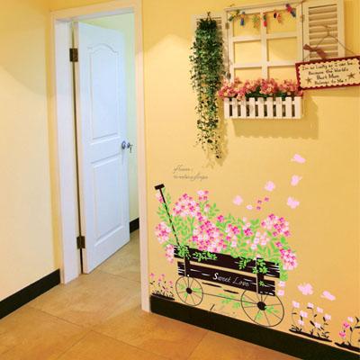 ウォールステッカー/花車☆花・フラワー☆::3007【バッグ・小物・ブランド雑貨】記念日向けギフトの通販サイト「バースデープレス」