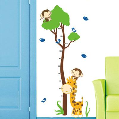ウォールステッカー/木の身長計・猿・きりん・小鳥☆kids☆::3007【バッグ・小物・ブランド雑貨】記念日向けギフトの通販サイト「バースデープレス」