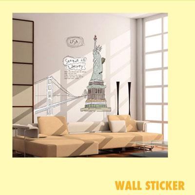ウォールステッカー/自由の女神::3007【バッグ・小物・ブランド雑貨】記念日向けギフトの通販サイト「バースデープレス」