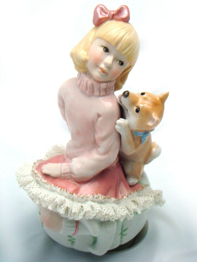 レースドール オルゴール マイ・ファミリー 柴犬  TKN-2369A::3107【インテリア・寝具・収納 > インテリア小物・置物】記念日向けギフトの通販サイト「バースデープレス」