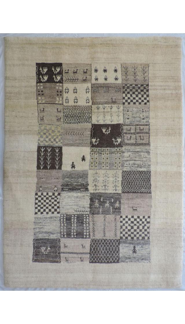 イラン産手織りギャッベ1320(横101cm×縦146cm)::3180【バッグ・小物・ブランド雑貨】記念日向けギフトの通販サイト「バースデープレス」