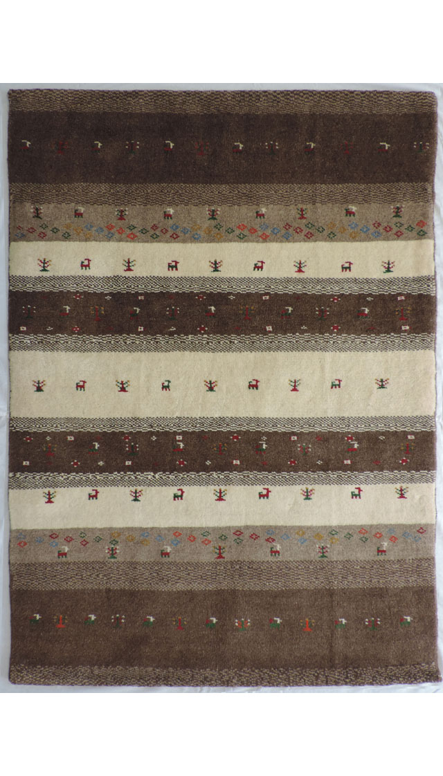 イラン産手織りギャッベ1323(横99cm×縦143cm)::3180【バッグ・小物・ブランド雑貨】記念日向けギフトの通販サイト「バースデープレス」