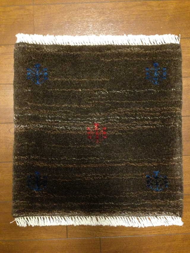 イラン産手織りギャッベ1365(横43cm×縦43cm)::3180【バッグ・小物・ブランド雑貨】記念日向けギフトの通販サイト「バースデープレス」