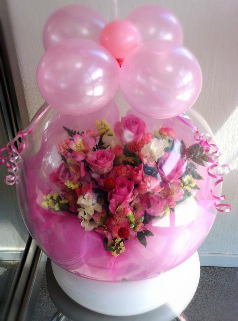バルーンフラワー・店長おまかせ☆色展開(イエロー、レッド、パープルetc)誕生日・サプライズ・結婚祝い・記念日・卒業祝いに♪