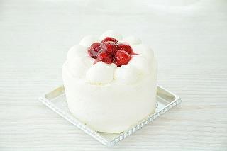 木苺デコレーションケーキ 3号 9cm