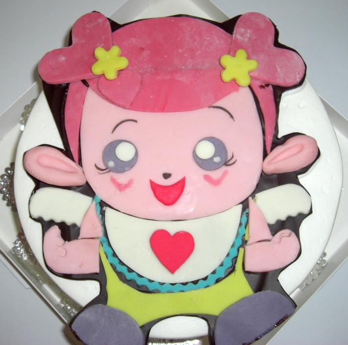 キャラクターケーキ アイちゃんチョコデコ5号(直径15cm)
