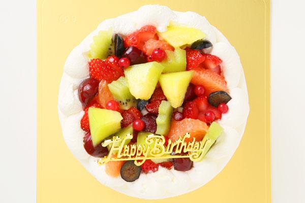 希少糖(レアシュガー)を使ったフルーツデコレーションケーキ 5号 15cmの画像2枚目