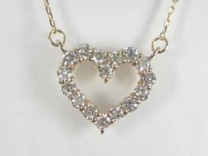 K18PG ピンクゴールドダイヤモンド ハート ペンダント ネックレス【10P12Jul14】::3324【バッグ・小物・ブランド雑貨】記念日向けギフトの通販サイト「バースデープレス」