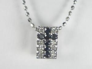 K18WG ホワイトゴールドダイヤモンド/ブラックダイヤモンド クロス ペンダント ネックレス【10P12Jul14】::3324【バッグ・小物・ブランド雑貨】記念日向けギフトの通販サイト「バースデープレス」