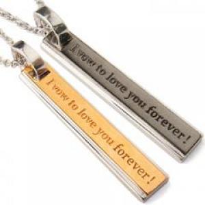メッセージプレート ペアネックレス I vow to love you forever!(永遠に愛を誓う)【10P12Jul14】::3324【バッグ・小物・ブランド雑貨】記念日向けギフトの通販サイト「バースデープレス」