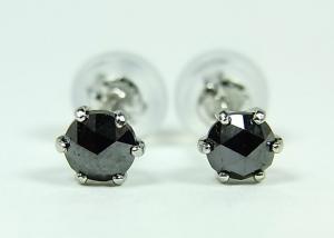 プラチナ ブラックダイヤモンド ピアス 0,3CT【10P12Jul14】::3324【バッグ・小物・ブランド雑貨】記念日向けギフトの通販サイト「バースデープレス」
