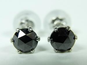 プラチナ ブラックダイヤモンド ピアス 0,5CT【10P12Jul14】::3324【バッグ・小物・ブランド雑貨】記念日向けギフトの通販サイト「バースデープレス」