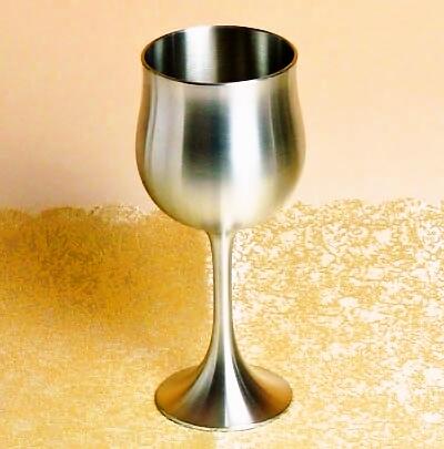 ワイングラス サテン仕上 200ml【ワイングラス】【名入れ】ワインゴブレット錫 ワイングラス::3334【バッグ・小物・ブランド雑貨】記念日向けギフトの通販サイト「バースデープレス」