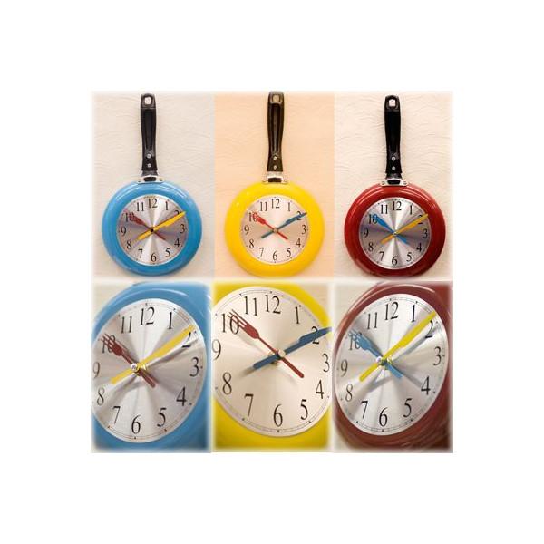 送料無料!壁掛け時計 アナログ フライパン型::3421【バッグ・小物・ブランド雑貨】記念日向けギフトの通販サイト「バースデープレス」