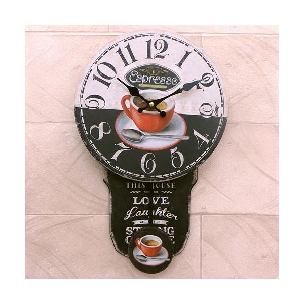 送料無料!振り子時計 壁掛け時計 インテリアウォールクロック カフェ::3421【バッグ・小物・ブランド雑貨】記念日向けギフトの通販サイト「バースデープレス」