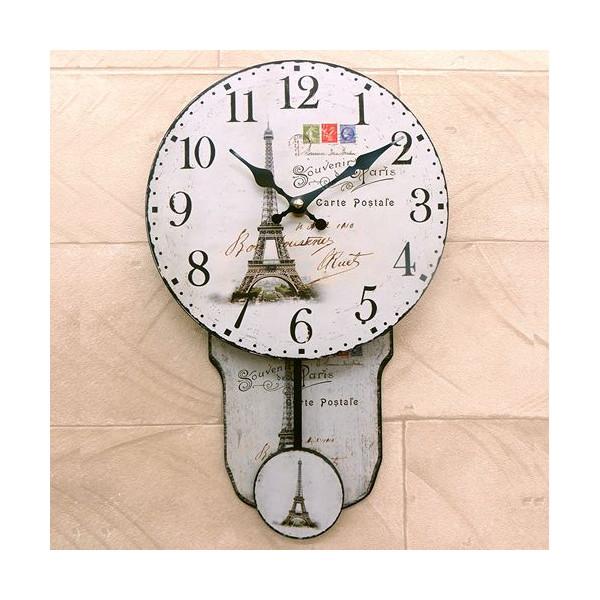 送料無料!振り子時計 壁掛け時計 インテリアウォールクロック アンティーク調::3421【バッグ・小物・ブランド雑貨】記念日向けギフトの通販サイト「バースデープレス」