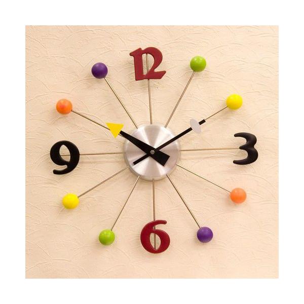 送料無料!壁掛け時計 インテリアウォールクロック カラフルデザイン::3421【バッグ・小物・ブランド雑貨】記念日向けギフトの通販サイト「バースデープレス」