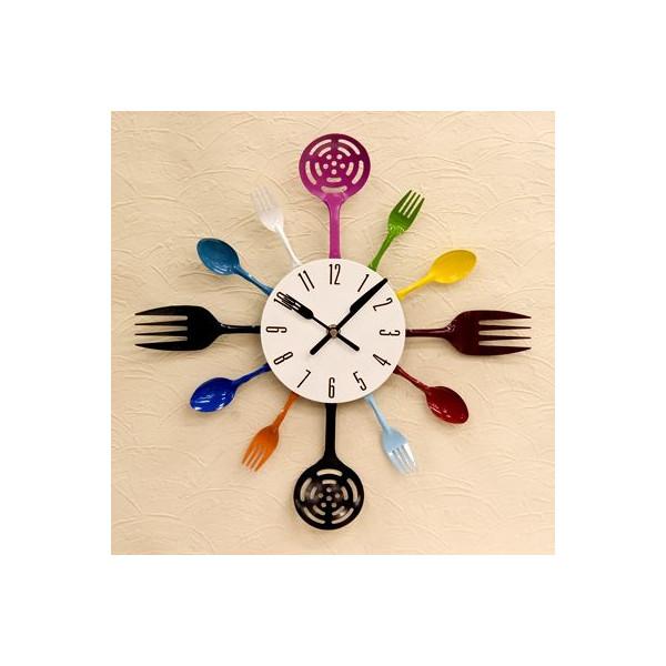送料無料!壁掛け時計 デザインウォールクロック スプーン&フォーク::3421【バッグ・小物・ブランド雑貨】記念日向けギフトの通販サイト「バースデープレス」