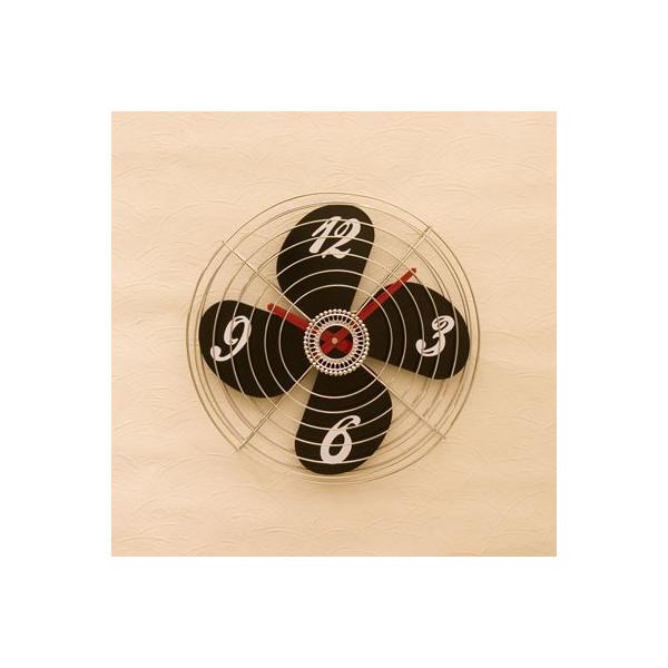 送料無料!壁掛け時計 インテリアウォールクロック 扇風機型::3421【バッグ・小物・ブランド雑貨】記念日向けギフトの通販サイト「バースデープレス」