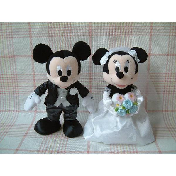 ブライダル/ぬいぐるみS ミッキーマウス&ミニーマウス(洋装)::3490【バッグ・小物・ブランド雑貨】記念日向けギフトの通販サイト「バースデープレス」