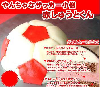 サッカー好きなら絶対欲しがるサッカー小僧「赤・しゅうとくん」
