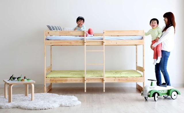 ひのき の 二段ベッド (ナチュラル) NH01B-HKN  国産::3537【バッグ・小物・ブランド雑貨】記念日向けギフトの通販サイト「バースデープレス」