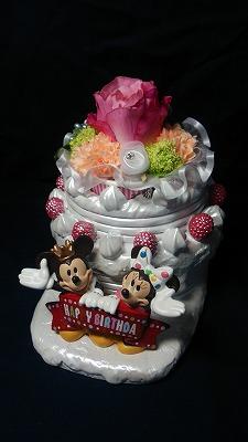 【送料無料】ミッキー&ミニー バースデープランターとお花で