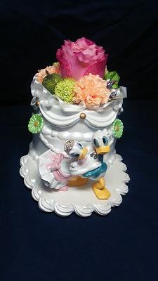 【送料無料】ドナルド&デイジー ウェディングプランターとお花で