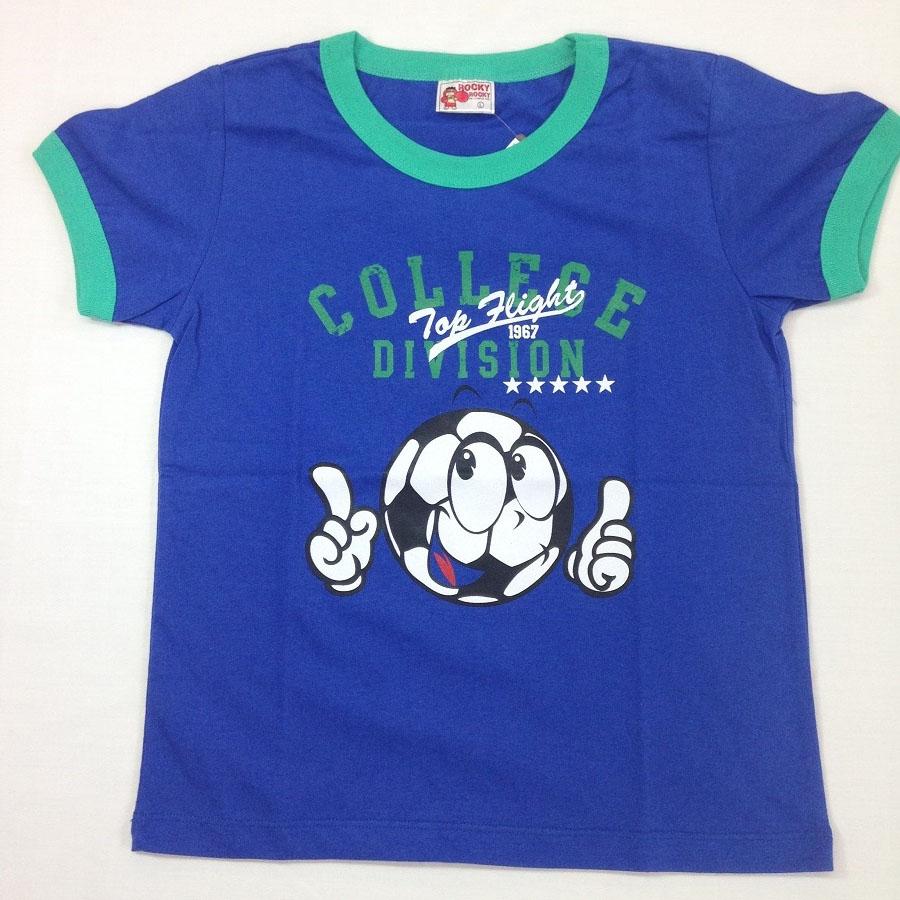 子供用半袖Tシャツ サッカー プリント ブルー::3580【キッズ・ベビー・マタニティ】記念日向けギフトの通販サイト「バースデープレス」
