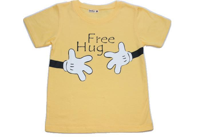 子供用ロゴTシャツ FreeHug イエロー::3580【キッズ・ベビー・マタニティ】記念日向けギフトの通販サイト「バースデープレス」