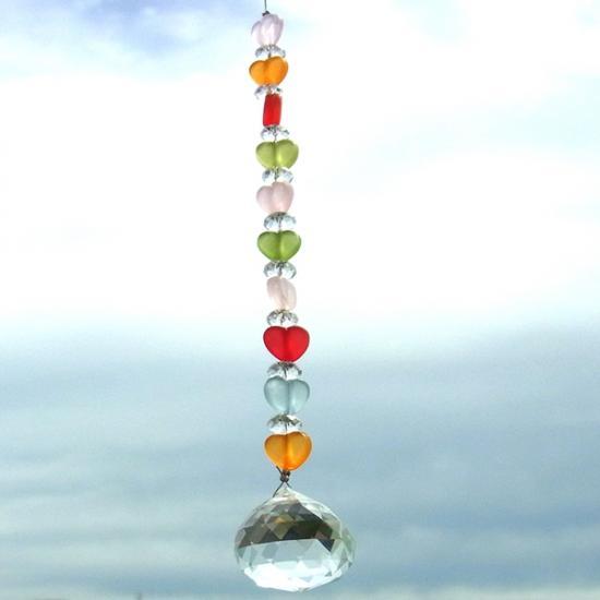 サンキャッチャー ハート パステルカラー ボール20mm::3587【バッグ・小物・ブランド雑貨】記念日向けギフトの通販サイト「バースデープレス」
