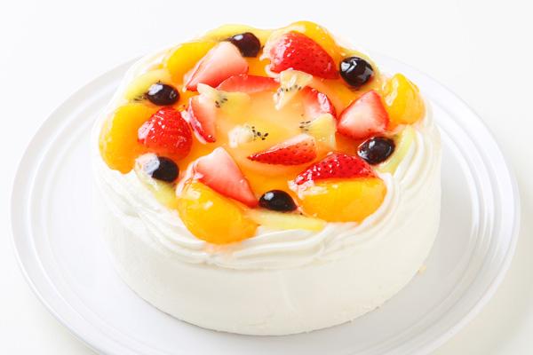 【ポイント10倍】生クリームフルーツデコレーションケーキ 4号 12cm